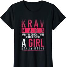 Krav Maga Hit Like A Girl Shirt