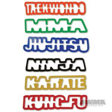 AWMA® Karate Kraze Silly Bands - Word Shapes