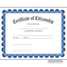 AWMA® Award Certificates - Blue Border Citizenship