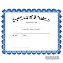 AWMA® Award Certificates - Blue Border Attendance
