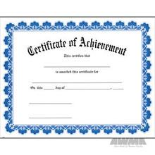 AWMA® Award Certificates - Blue Border Achievement