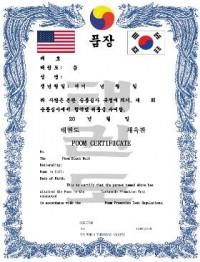 KWON® TKD Poom Certificate