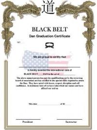 KWON® Black Belt Dan Certificate