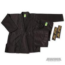 "AWMA® ProForce® Gladiator ""Pearl"" Jiu-Jitsu Uniform - Black (Adult Sizes)"