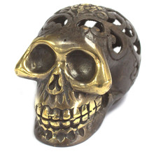 Vintage Style Brass Skull - Small Size 7 x 4cm - Feng Shui