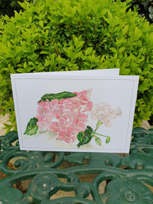 Hydrangea and Carnation Card by Sarah Cameron - Blank Inside - Choice of Pack Sizes