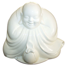 Chinese Laughing Buddha Statue - Blanc de Chine - 17cm