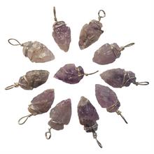 Arrowhead Pendant - Amethyst - Semi Precious Stone - 2 - 3cm