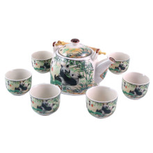 Chinese Tea Set - White Ceramic - Giant Panda Pattern - Gift Box