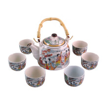 Chinese Tea Set - White Ceramic - Traditional Musicians - Gift Box