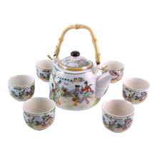 Chinese Tea Set  - Garden Games Pattern - Gift Box