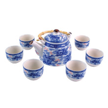 Chinese Tea Set - Blue and White - Nine Dragon Pattern - Gift Box