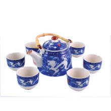 Chinese Tea Set - Blue and White - Double Dragon Pattern - Gift Box