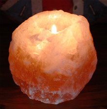 Himalayan Natural Salt Candle / Tea Light Holder - 700g Approx