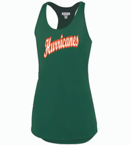 Hurricanes Baseball Ladies Racer-Bank TankTop