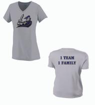 Crusaders Baseball Ladies Grey Dri-fit T-Shirt