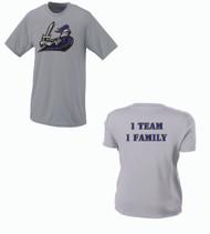 Crusaders Baseball Men's Grey Dri-fit T-Shirt