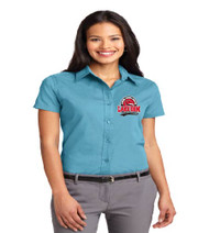 Lake Gem Ladies Short Sleeve Button-up