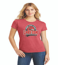 Lake Gem Ladies Tri-Blend Soft Cotton T-Shirt