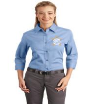 Millennia Ladies 3/4 Sleeve Button-Up