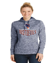 Dust Devils Ladies Polyester Heather Hoodie