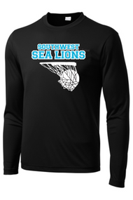 Southwest Middle Basketball Black Long Sleeve Dri-Fit T-Shirt