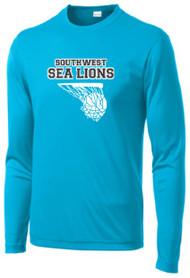 Southwest Middle Basketball Teal Long Sleeve Dri-Fit T-Shirt