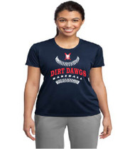 Dirt Dawgs Baseball Ladies Navy Blue Dri-Fit T-Shirt