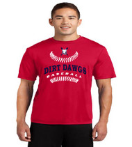 Dirt Dawgs Baseball Men's/Youth Red Dri-Fit T-Shirt