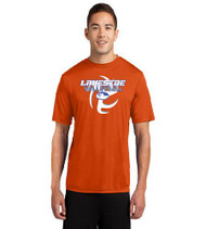 Lakeside Volleyball Men's Orange Dri-Fit T-Shirt