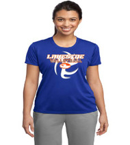 Lakeside Volleyball Ladies Royal Blue Dri-Fit T-Shirt