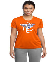 Lakeside Volleyball Ladies Orange Dri-Fit T-Shirt