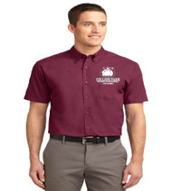 College Park Men's Short Sleeve Button-up