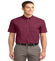 Premier Water Men's Short Sleeve Button-up