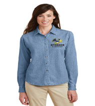 Riverside Ladies Long Sleeve Denim Button-up
