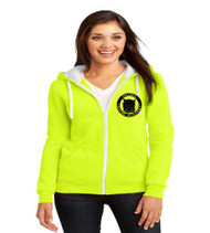 OGA Ladies Zip-Up Hooded Sweatshirt