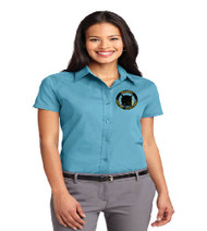 OGA Ladies Short Sleeve Button-up
