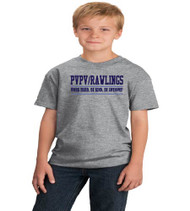PVPV Rawlings Grey Youth Soft Cotton T-Shirt