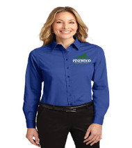 Pinewood Ladies Long Sleeve Button-up