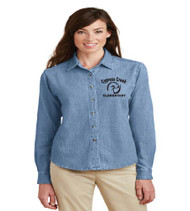 Cypress Creek Ladies Long Sleeve Denim Button-up