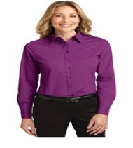 Maxey Ladies Long Sleeve Button-up