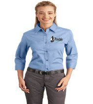 Pinedale Ladies 3/4 Sleeve Button-Up