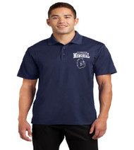 Memorial men's dri fit polo w/ left chest print