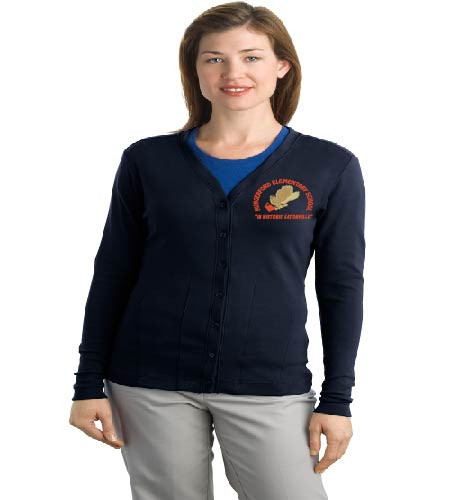 Hungerford ladies cardigan w/ embroidery