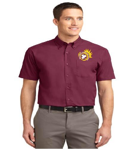 Killarney men's short sleeve button-up shirt w/ embroidery