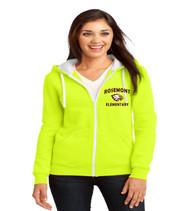 Rosemont ladies zip up hoodie