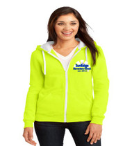 Sunridge Elementary ladies zip-up hooded sweatshirt w/ embroidery