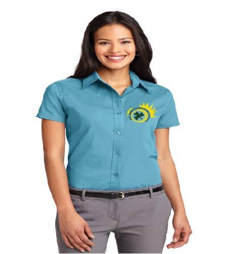 Killarney ladies short sleeve button-up shirt