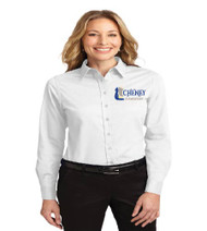 Cheney Elementary Ladies Long Sleeve Button-up
