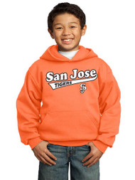 San Jose Tigers neon orange youth hoodie